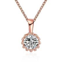 Swarovski Crystal 18K Rose Plated Princess Cut Necklace - $27.99