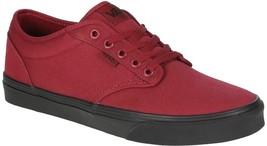 VANS Atwood (Check Liner) Tibetan Red Black Sneakers MEN'S 7.5 WOMEN'S 9 - $34.95