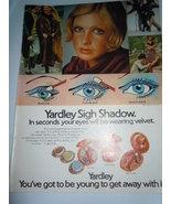 Vintage Yardley Sigh Shadow Print Magazine Advertisement 1971  - $10.99