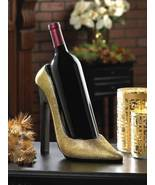 10016116 SHIPS FREE Accent Plus Golden Shoe Wine Holder - $24.32