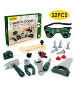 22 Pcs Real Kids Tool Set, Kids Tool Belt with Real Hand Tools for Toddl... - $17.80