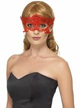 Spitze Bestickt Filigran Herz Augenmaske, Halloween Kostüm, Rot - ₹318.38 INR