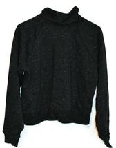 Under Armour Women's UA Black & White Rival Fleece Wrap Neck Sweatshirt Size S image 2