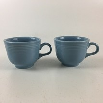 Fiestaware Homer Laughlin Periwinkle Blue Set Of 2 Coffee Cups USA - $20.56