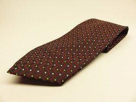 Giorgio Armani Tie Allover Pattern 100% Silk Necktie Made in Italy - $23.72