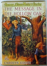 Nancy Drew no.12 Message in the Hollow Oak hcdj Applewood Edition Caroly... - $14.00