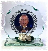 Frank Sinatra , Blue Eyes, My Way, Cut Glass Round Plaque Christmas  Edi... - $32.53