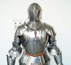 Suit Armor Full Body Armour Vintage Combat Armour Medieval Knight With S... - $899.00