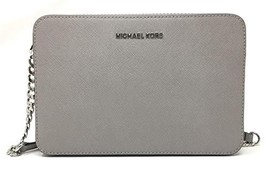 Michael Kors Women's Jet Set Item Crossbody Bag (Pearl Grey Saffiano) - $137.55