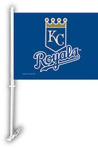 "Kansas City Royals Premium Car Flag 11x15x20"" Window Banner + Pole + wal... - $16.79"