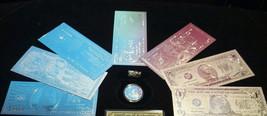 COIN/Flake+SILVER $1,2,5,10,20,50,$100 Rep.*Banknotes/FREE Shipping In U.Sa. Y - $23.69