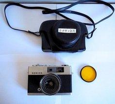 Konica EE Matic Film Camera, Hexanon 40mm Lens, Case, METERING WORKING - $79.00