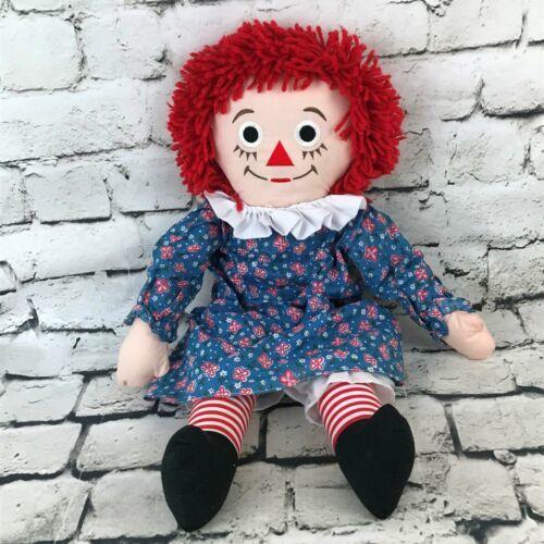 Applause Raggedy Anne Plush Classic Retro Rag Doll Red Yarn Hair Stuffed Toy