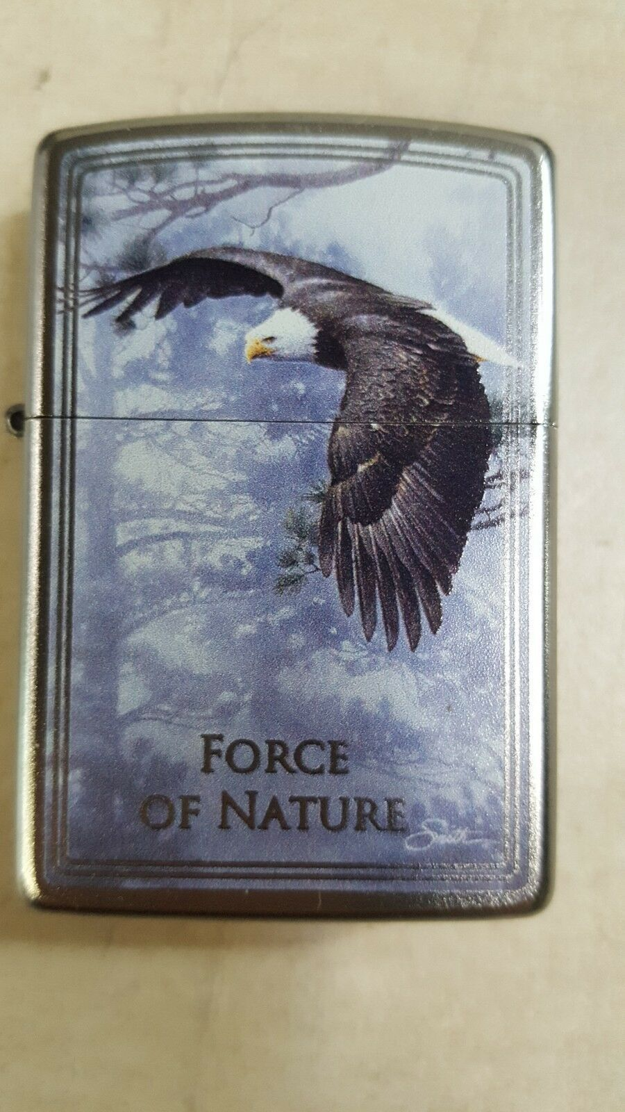 Zippo Limited Edition 'Force of Nature' Eagle Chrome Lighter image 3