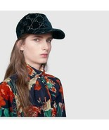 NWT Gucci blue GG velvet baseball cap  - size S /56; Rtl $530 - $350.00