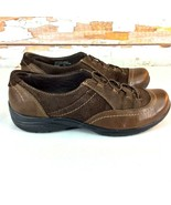 Earth Origins By Earth Dover Slip On Oxford Shoes Womens 8 W Brown Leath... - $11.57