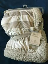 "Just Born Big Dreamer Grey Striped Baby Blanket 30""X40"" *NEW* u1 - $24.99"