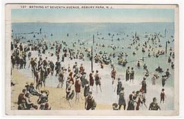 Bathing Beach Seventh Avenue Asbury Park New Jersey 1920 postcard - $5.94
