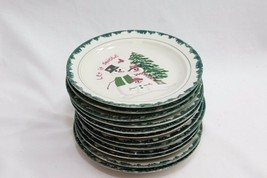 "Atico Let it Snow Xmas Salad Dessert Plates 6.5"" Set of 12 - $84.27"