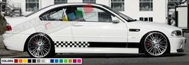 Decal sticker bar Stripe lip kit BMW M3 E46 LED Xenon Headlight Skirts c... - $39.15+
