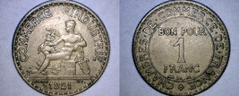 1921 French 1 Franc World Coin - France - $9.99