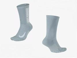 Nike Men's XL Speed Cushioned Crew Socks Gray X-Large 14-16 SX7187-019 - $18.99