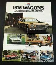 Chevrolet 1975 Wagons Dealer Sales Brochure Caprice Malibu Vega Suburban Blazer - $7.99