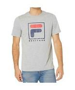 Fila Heritage F Box Logo Men's T-Shirt Heather Grey LM913787-073 - $18.00