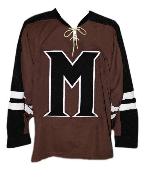 Brian birdie burns mystery alaska movie hockey jersey brown   1
