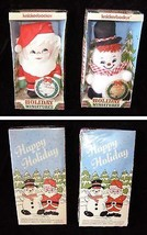 Holiday Miniatures Christmas Santa Claus & Snowman Knickerbocker 1973 New - $26.99