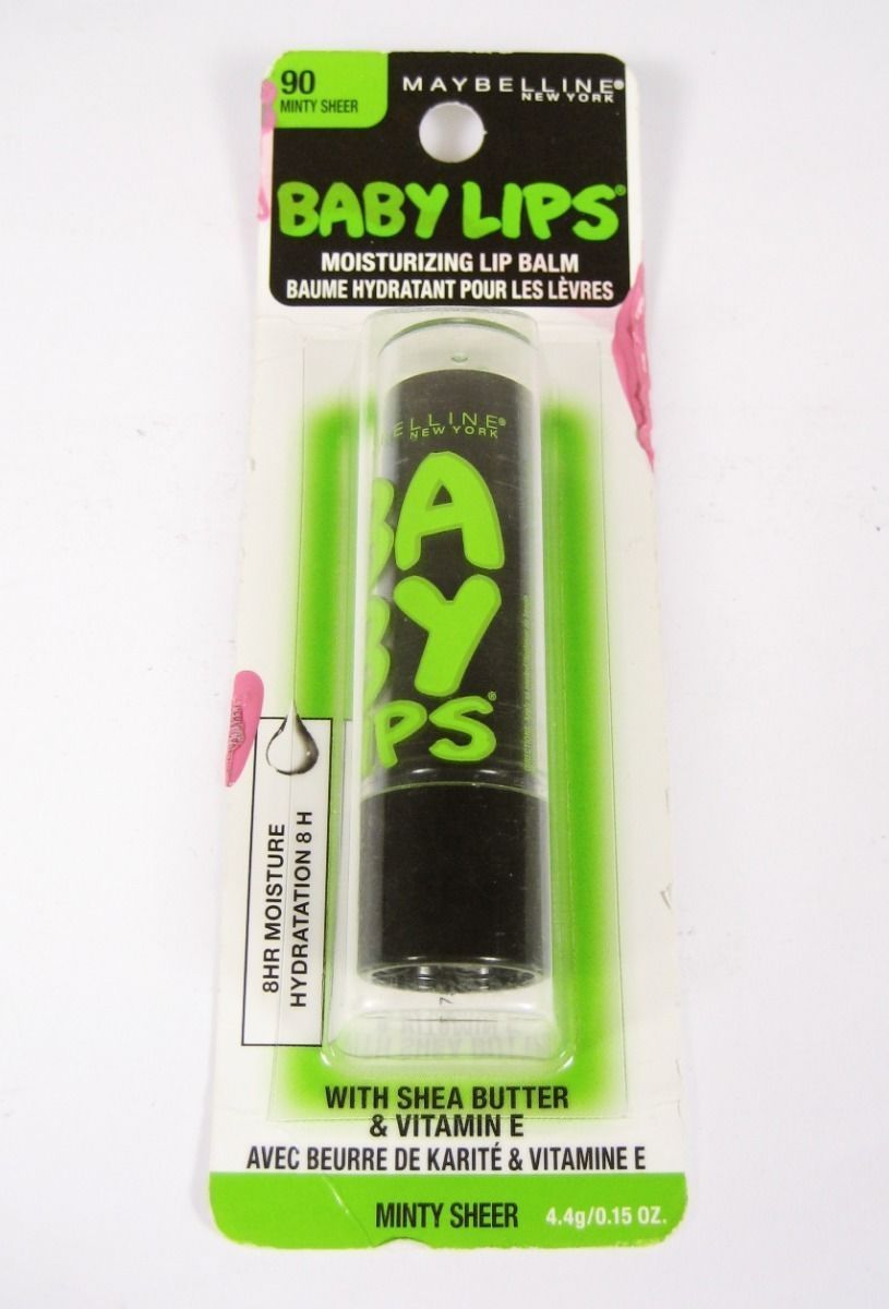 Maybelline Baby Lips Moisturizing Lip Balm 90 Minty Sheer *SEALED*