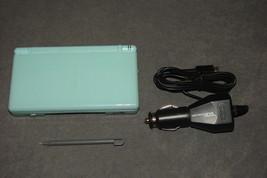 Nintendo DS Lite System Ice Blue USG-001 [WORKS] Cracked Loose Hinge - $39.00