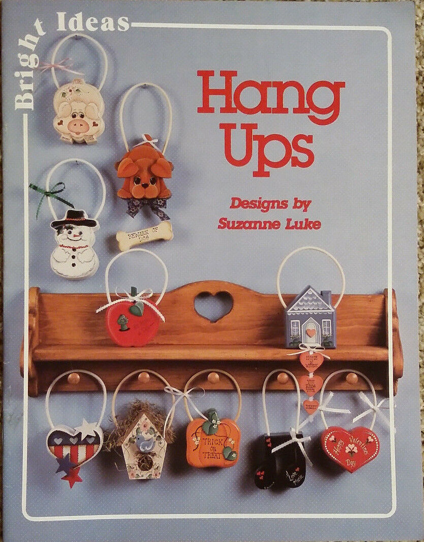 Hang Ups By Suzanne Luke All Seasons & Holidays Christmas Tole Painting Book EUC