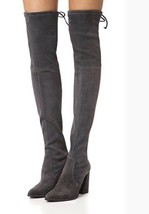 Stuart Weitzman Funland Over the Knee Suede Slate Anthracite Gray Highland 9.5 - $499.98
