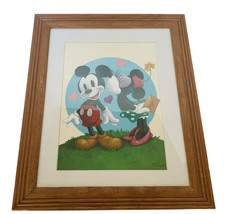 Walt Disney Framed print Peter Emmerich Signed Mickey Mouse Minnie 17X14... - $72.57