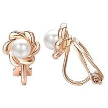 Yoursfs Clip earring Ivory pearl Round Earrings no Pierced Clip on Earri... - $12.33