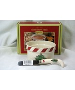 Spode 2018 Christmas Tree Peppermint Dip Set In Box - $13.85