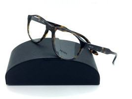 Prada Eyeglasses VPR 12S HAQ 1O1 Tortoise 54-18-145 mm Demo lenses Italy... - $77.43