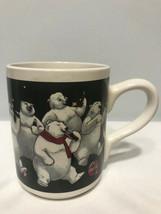 1996 Gibson Coca Cola Polar Bears Drinking Coke Coffee Cup Mug - $3.99