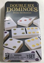 Double Six Dominoes, 28 Colored Dots, Cardinal Game Set | New | Sealed - $19.75