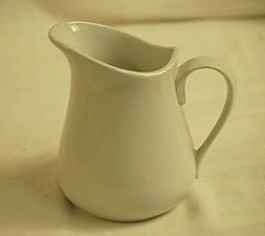 Vintage White Syrup Pitcher Milk Creamer Country Kitchen Farmhouse Table... - $24.74