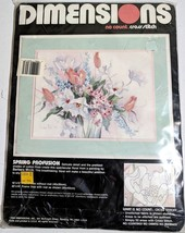 """Dimensions No Count Cross Stitch Kit Spring Profusion Flowers Floral 16""""... - $19.34"""