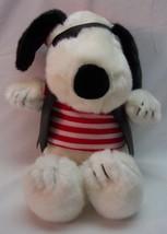 "Cedar Fair Peanuts SNOOPY DOG AS PIRATE 10"" Plush STUFFED ANIMAL Toy - $24.74"