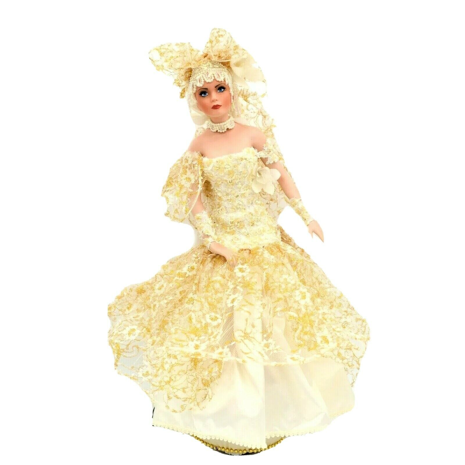 Primary image for Vintage Rustie Fiber Optic Elegant Full Body Light Up Doll Satin Covered Base