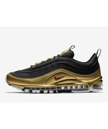 Nike Air Max 97 QS Men's Shoes AT5458-002 Black/Red/Gold Casual Sneakers... - $163.34