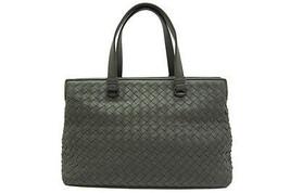 Auth Bottega Veneta Intrecciato Shoulder Hand Bag New-Light-Gray Leather - $1,384.02