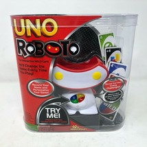 NIB Mattel Uno Roboto The Interactive Wild Card Game Robot Lights Up  - $59.39