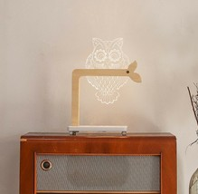 Mooas USB Wired Acryl LED Owl Night Mood Lights Lighting Lamp Indoor Interior image 2