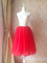 RED TULLE Party SKIRT A Line Red Bridesmaid Skirt Ballerina Skirt Plus Size XXXL