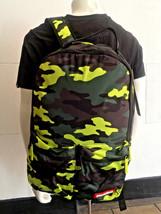 Unisex Sprayground Neon Camo Pockets Cartoon Backpack - $157.41